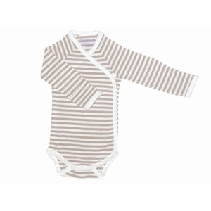NATURALS STRIPE L/S ONESIE Organic Cotton